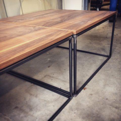 hout, staal, sidetable, tafeltje, interieur, design, simpel, fun, kek, strak, ontwerp